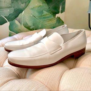8eabcc3328f6 Louis Vuitton · Vuitton Men s White Leather Loafer Shoes ...